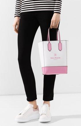 Женский сумка-тоут BALMAIN светло-розового цвета, арт. TN0S452/LARE | Фото 2