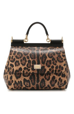 Женская сумка sicily medium DOLCE & GABBANA леопардового цвета, арт. BB6002/AG299 | Фото 1