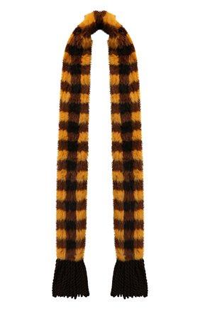 Мужские меховой шарф FENDI разноцветного цвета, арт. FNG520 ABRP | Фото 1