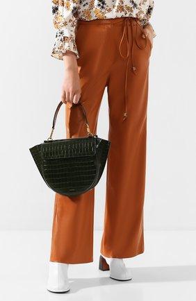 Женская сумка hortensia medium WANDLER зеленого цвета, арт. H0RTENSIA BAG MEDIUM CR0C0 | Фото 2