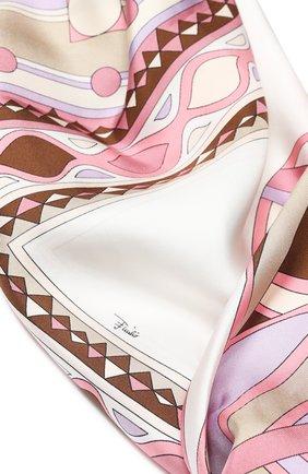 Женский шелковый платок EMILIO PUCCI фиолетового цвета, арт. 0HGB66/0HM66 | Фото 2