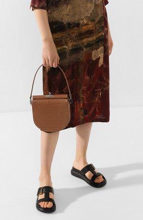 Женская сумка demilune GU_DE бежевого цвета, арт. G020SM007 | Фото 2