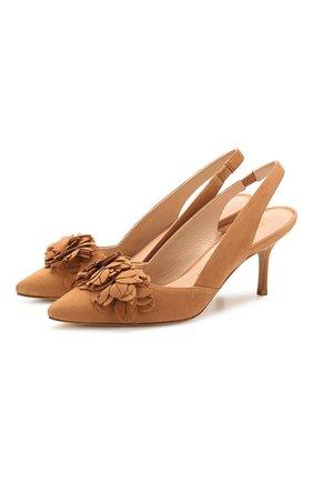 Женская замшевые туфли STUART WEITZMAN бежевого цвета, арт. S1053 | Фото 1