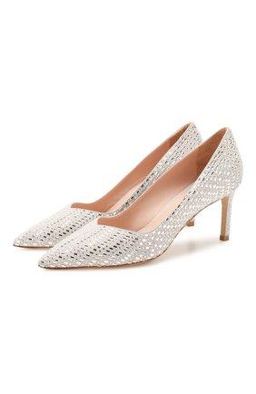 Женская замшевые туфли STUART WEITZMAN белого цвета, арт. S6722 | Фото 1