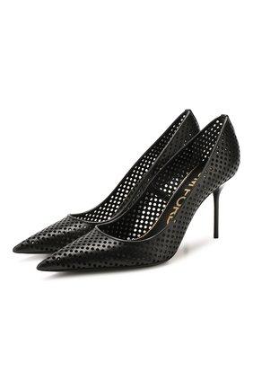 Женские кожаные туфли TOM FORD черного цвета, арт. W2523T-ICL013 | Фото 1