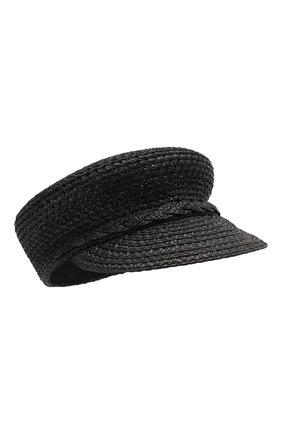 Женская кепи ERIC JAVITS черного цвета, арт. 13991/CAPITAN | Фото 1