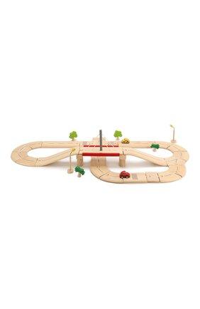 Детского игра деревянная дорога PLAN TOYS разноцветного цвета, арт. 6078 | Фото 1