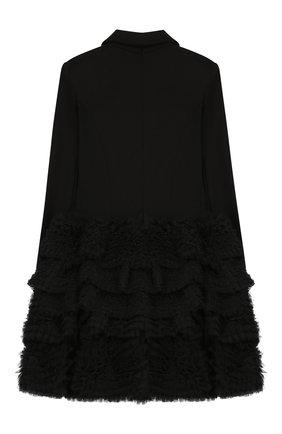 Детское платье BALMAIN черного цвета, арт. 6M1110/MB010/12-16 | Фото 2