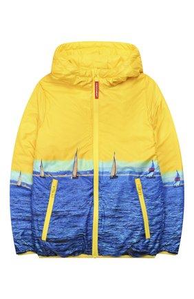 Детского двусторонняя куртка FREEDOMDAY желтого цвета, арт. EFRJB3303V-103 | Фото 1