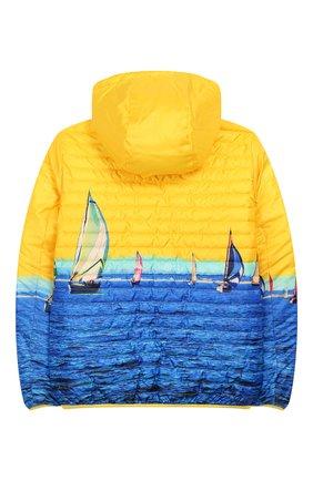 Детского двусторонняя куртка FREEDOMDAY желтого цвета, арт. EFRJB3303V-103 | Фото 2