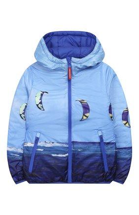 Детского двусторонняя куртка FREEDOMDAY синего цвета, арт. EFRJB3303V-103 | Фото 1