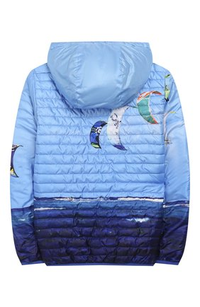 Детского двусторонняя куртка FREEDOMDAY синего цвета, арт. EFRJB3303V-103 | Фото 2
