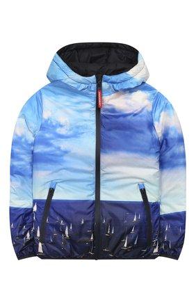 Детского двусторонняя куртка FREEDOMDAY темно-синего цвета, арт. EFRJB3303V-103 | Фото 1