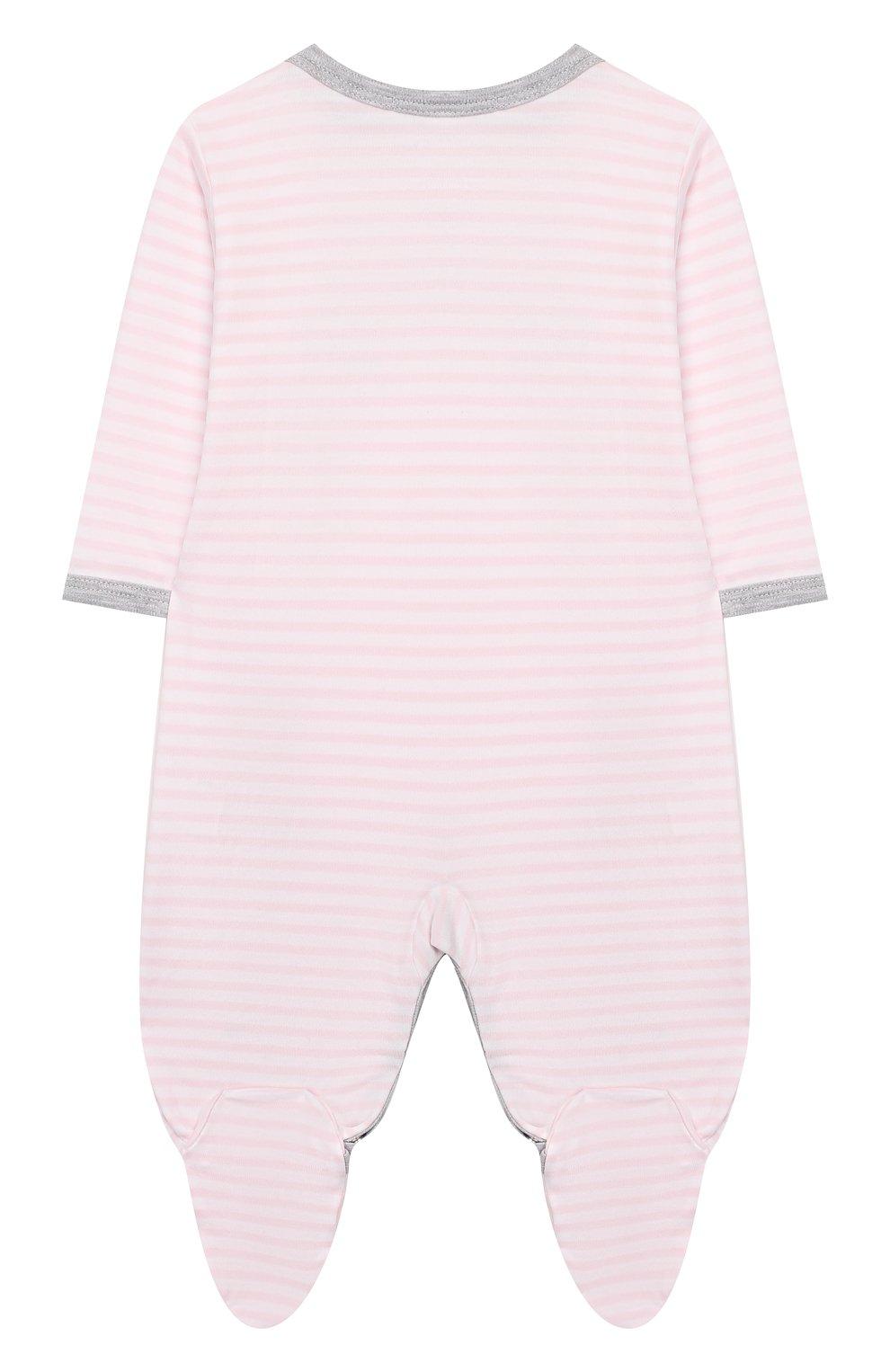 Детский хлопковый комбинезон KISSY KISSY розового цвета, арт. KGQ04314N   Фото 2