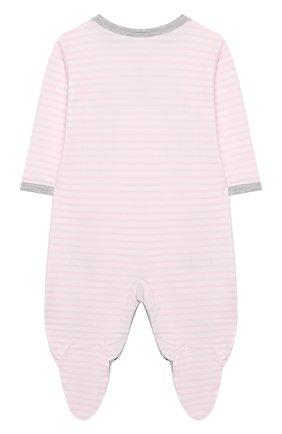 Детский хлопковый комбинезон KISSY KISSY розового цвета, арт. KGQ04314N | Фото 2