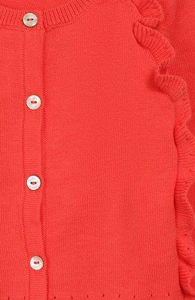 Детский хлопковый кардиган TARTINE ET CHOCOLAT кораллового цвета, арт. TQ18011/1M-1A | Фото 3