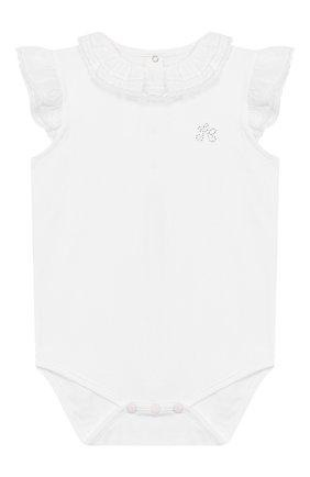 Детское хлопковое боди TARTINE ET CHOCOLAT белого цвета, арт. TQ11021/18M-3A | Фото 1