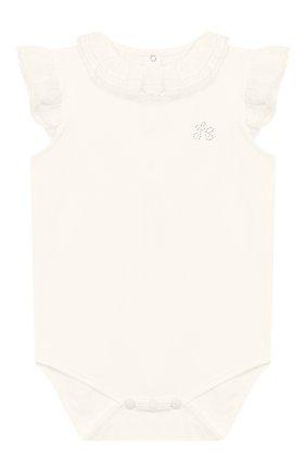 Детское хлопковое боди TARTINE ET CHOCOLAT бежевого цвета, арт. TQ11021/18M-3A | Фото 1
