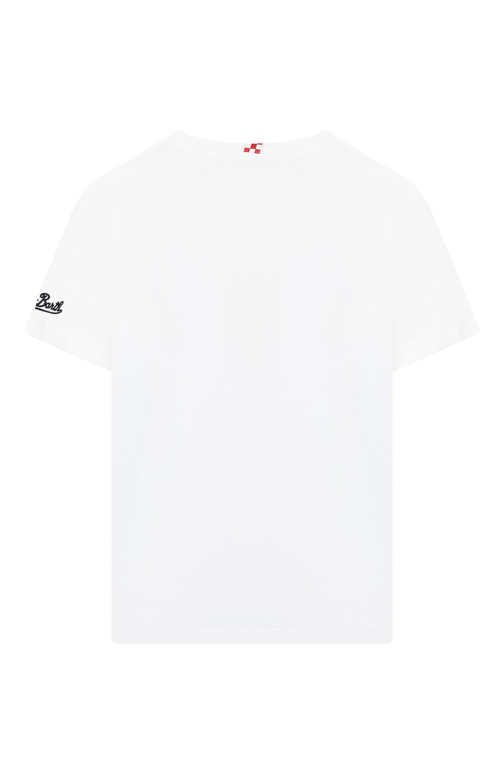 Детская хлопковая футболка MC2 SAINT BARTH разноцветного цвета, арт. STBK TSHIRT B0Y/TSH0001 | Фото 2