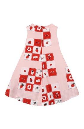 Детское хлопковое платье SIMONETTA розового цвета, арт. 1M1222/MC131/1-4 | Фото 2