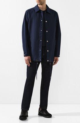 Мужские кожаные кроссовки GIANVITO ROSSI черного цвета, арт. S25076.M1BLK.SBFNENN | Фото 2