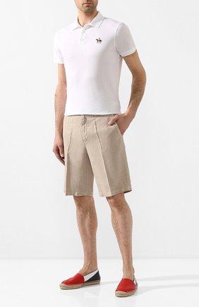 Мужские кожаные эспадрильи RALPH LAUREN разноцветного цвета, арт. 815795840 | Фото 2
