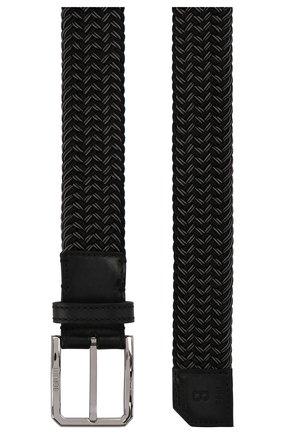 Мужской текстильный ремень BERLUTI темно-серого цвета, арт. C0062-007 | Фото 2
