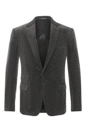 Мужской хлопковый пиджак RALPH LAUREN серого цвета, арт. 798783843 | Фото 1