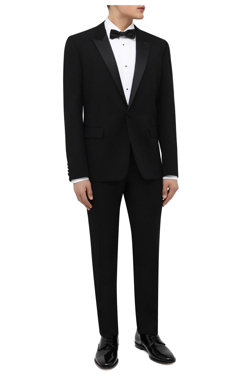Мужской шерстяной смокинг SAINT LAURENT черного цвета, арт. 615987/Y512W | Фото 1