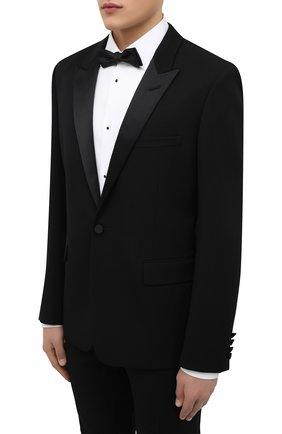 Мужской шерстяной смокинг SAINT LAURENT черного цвета, арт. 615987/Y512W | Фото 2