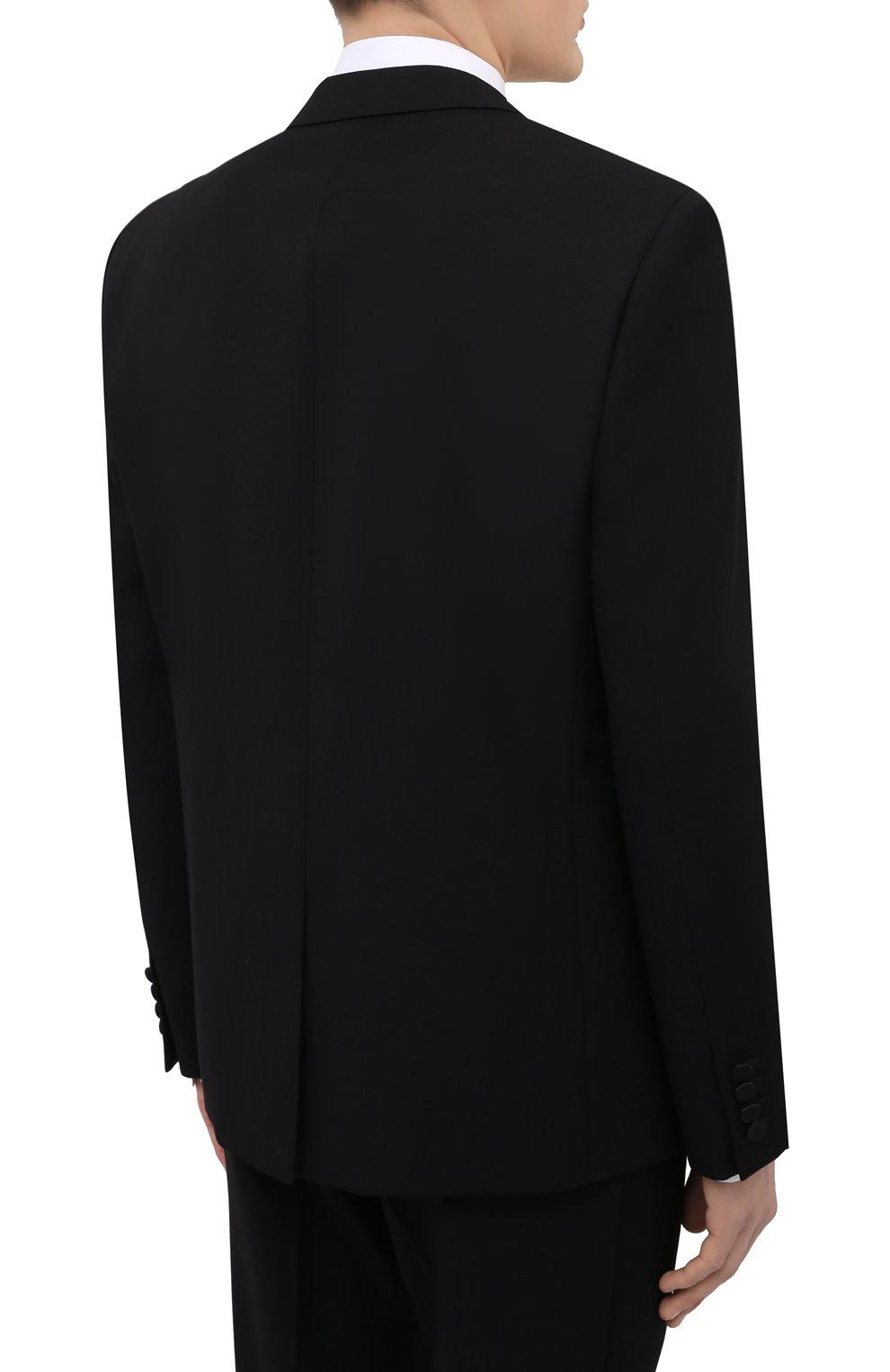 Мужской шерстяной смокинг SAINT LAURENT черного цвета, арт. 615987/Y512W | Фото 3