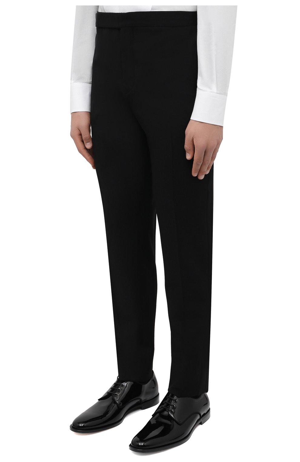 Мужской шерстяной смокинг SAINT LAURENT черного цвета, арт. 615987/Y512W | Фото 4