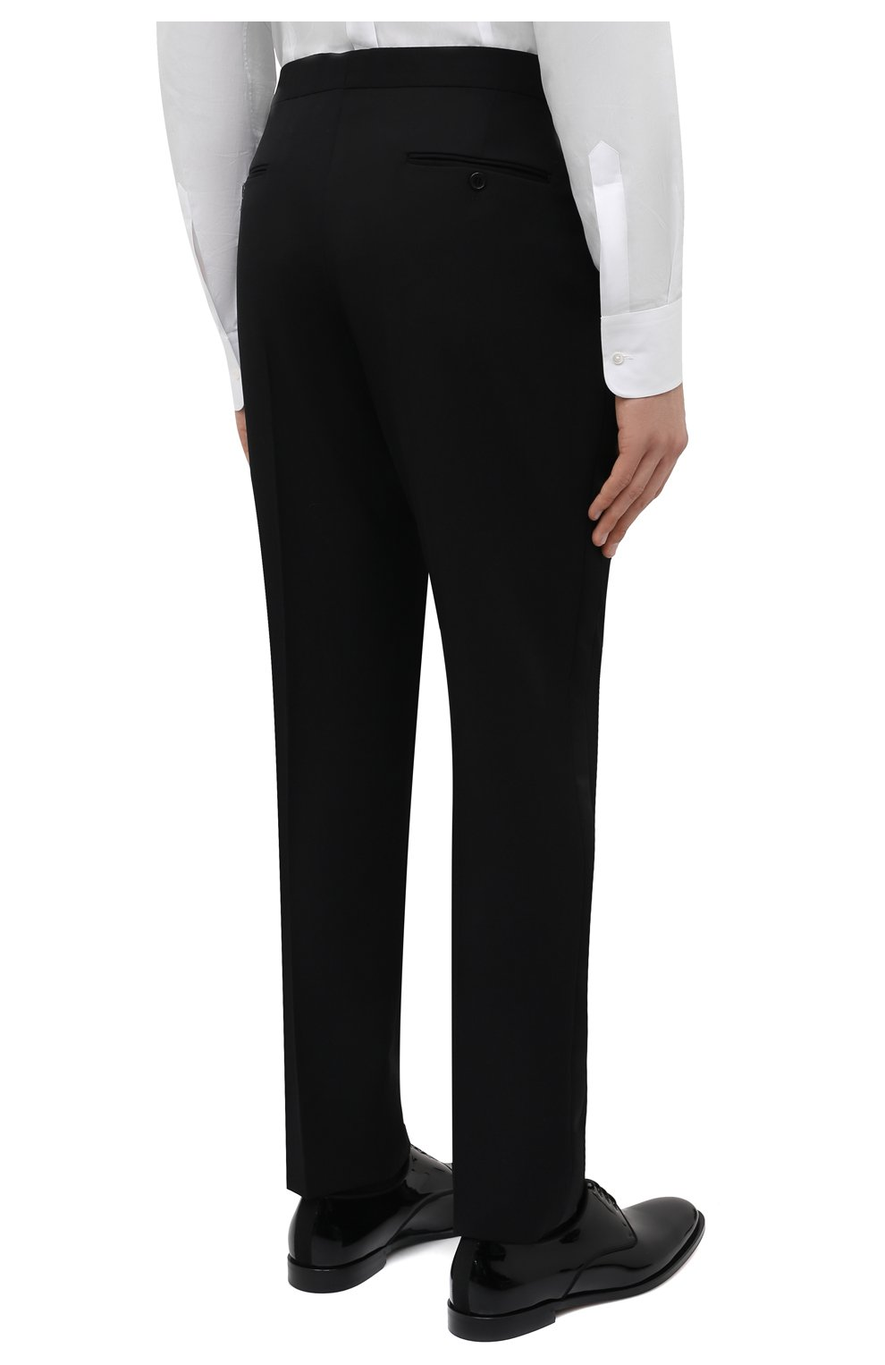 Мужской шерстяной смокинг SAINT LAURENT черного цвета, арт. 615987/Y512W | Фото 5