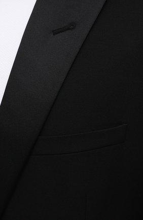 Мужской шерстяной смокинг SAINT LAURENT черного цвета, арт. 615987/Y512W | Фото 6