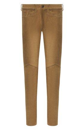 Мужской замшевые брюки RRL бежевого цвета, арт. 782775062 | Фото 1