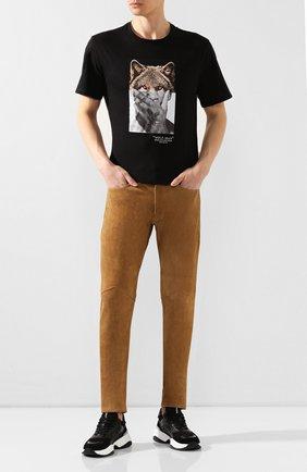 Мужской замшевые брюки RRL бежевого цвета, арт. 782775062 | Фото 2