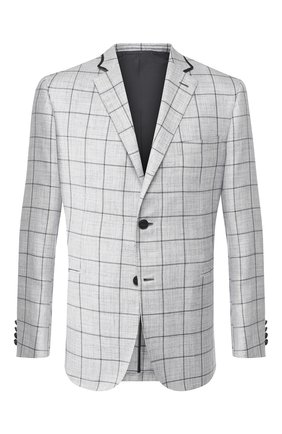 Мужской пиджак из смеси шерсти и шелка BRIONI светло-голубого цвета, арт. RGKN0L/P9A0F/D0R0TE0 | Фото 1