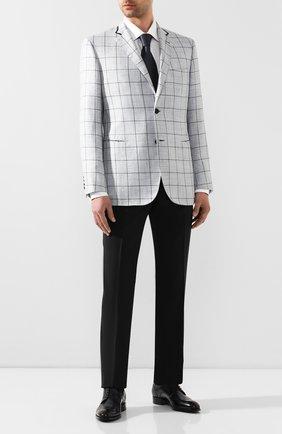 Мужской пиджак из смеси шерсти и шелка BRIONI светло-голубого цвета, арт. RGKN0L/P9A0F/D0R0TE0 | Фото 2