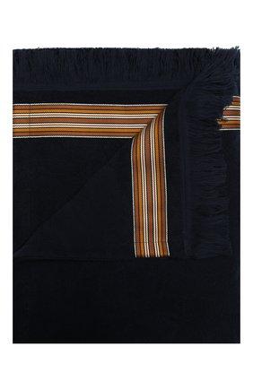 Мужские хлопковое полотенце LORO PIANA темно-синего цвета, арт. FAI6077 | Фото 1