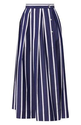 Женская хлопковая юбка SARA ROKA темно-синего цвета, арт. ARIZA85/14-SS20 | Фото 1