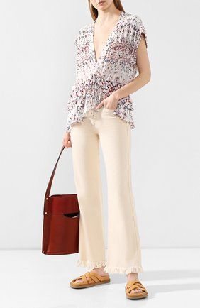 Женские джинсы ISABEL MARANT бежевого цвета, арт. PA1649-20E010I/ELVIRA | Фото 2
