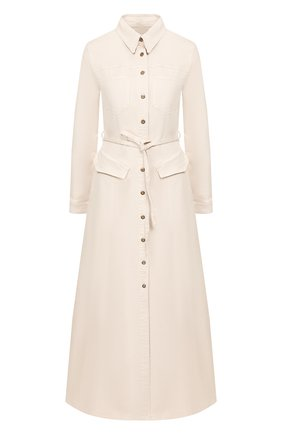 Женское джинсовое платье NANUSHKA кремвого цвета, арт. JIAYE_CREME_STRETCH DENIM | Фото 1