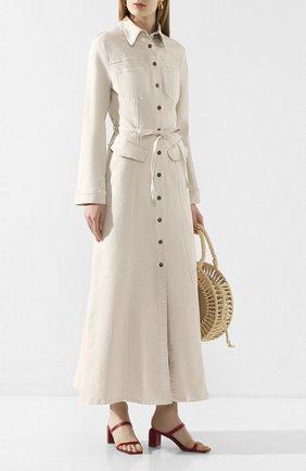 Женское джинсовое платье NANUSHKA кремвого цвета, арт. JIAYE_CREME_STRETCH DENIM | Фото 2