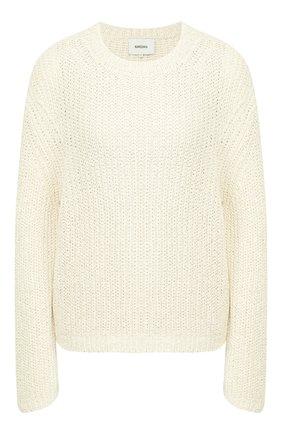 Женская хлопковый пуловер NANUSHKA белого цвета, арт. SAI0_WHITE_CHUNKY KNIT | Фото 1