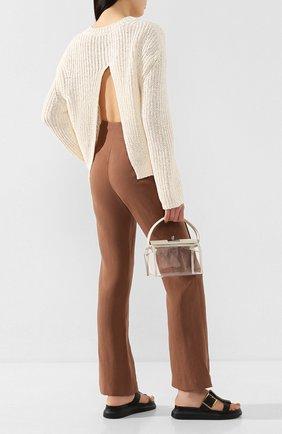 Женская хлопковый пуловер NANUSHKA белого цвета, арт. SAI0_WHITE_CHUNKY KNIT | Фото 2