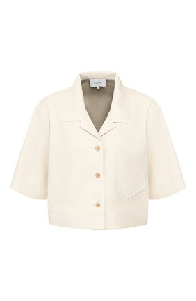 Женская рубашка NANUSHKA белого цвета, арт. RHETT_0FF-WHITE_VEGAN LEATHER   Фото 1