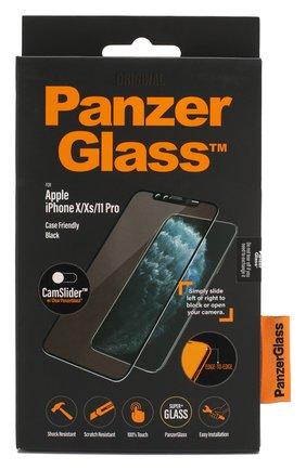Мужское защитное стекло для iphone x/xs/11 pro cf camslider PANZERGLASS черного цвета, арт. 2667 | Фото 1