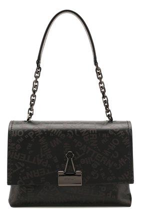 Женская сумка soft medium OFF-WHITE темно-серого цвета, арт. 0WNA120T20LEA0011008 | Фото 1