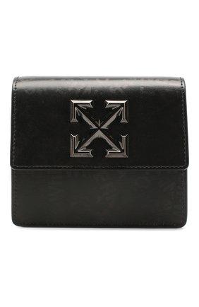 Женская поясная сумка 0.7 jitney OFF-WHITE темно-серого цвета, арт. 0WNA093T20LEA0031008 | Фото 1