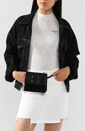 Женская поясная сумка 0.7 jitney OFF-WHITE темно-серого цвета, арт. 0WNA093T20LEA0031008 | Фото 2